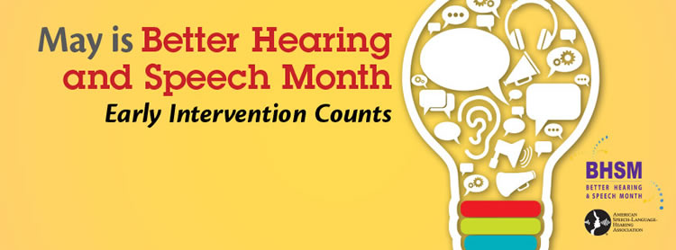 Logo for ASHA Better Speech And Hearing Month