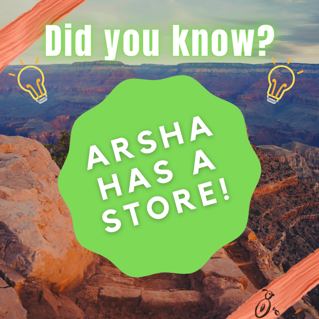 Image announcing ArSHA has a store